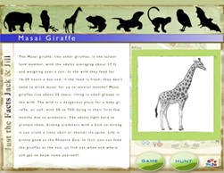 Story interface, 26 animal stories to read or hear